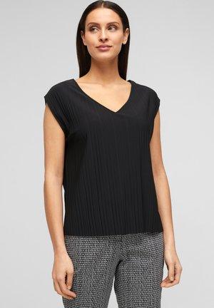 PLISSEE - T-Shirt basic - true black