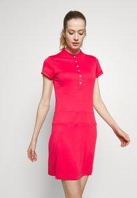 Daily Sports - SELENA CAP DRESS - Jerseykjoler - sangria - 0