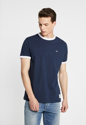 SOLID RINGER TEE - T-shirts print - blue