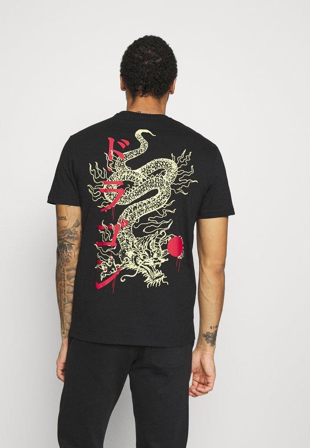 ONSHARU LIFE  TEE - T-shirt con stampa - black