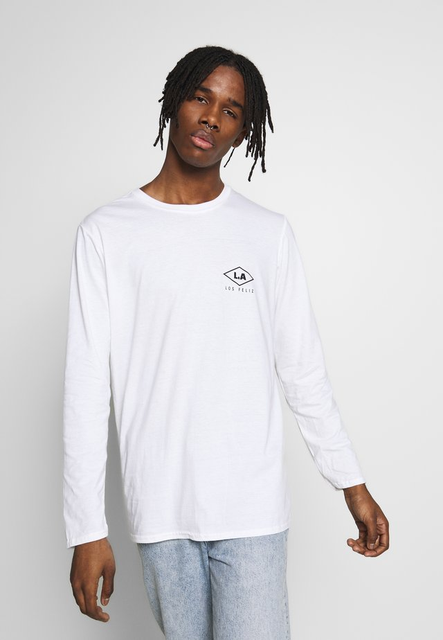 LOS FELIZ CUFF TEE - Long sleeved top - white