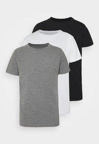 black/grey melange/white