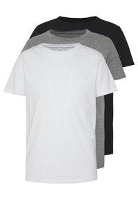 Replay - CREW TEE 3 PACK - T-shirt basic - black/grey melange/white - 0