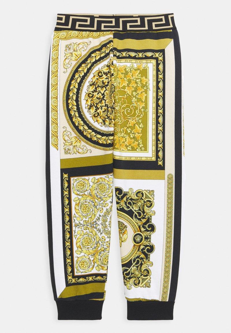 Versace - HERITAGE PRINT UNISEX - Tracksuit bottoms - white/gold/kaki