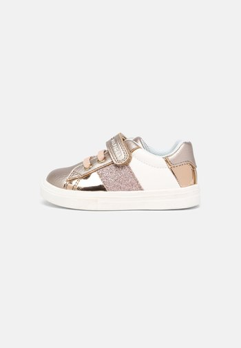 Trainers - rose gold/white
