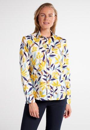 MODERN CLASSIC - Button-down blouse - weiss/bunt