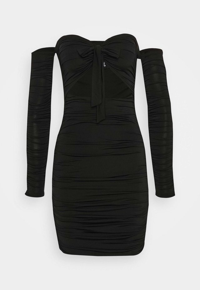 LISBON DRESS - Shift dress - black