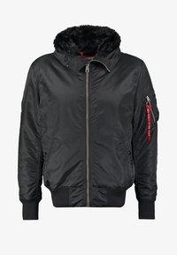 Alpha Industries - HOODED STANDART FIT - Light jacket - black - 7