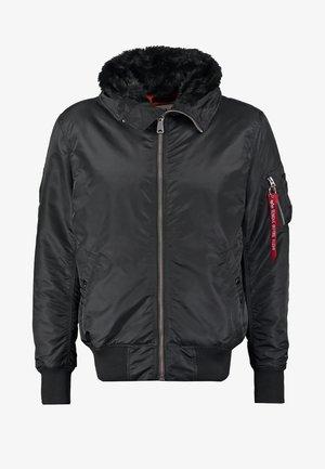 HOODED STANDART FIT - Lehká bunda - black