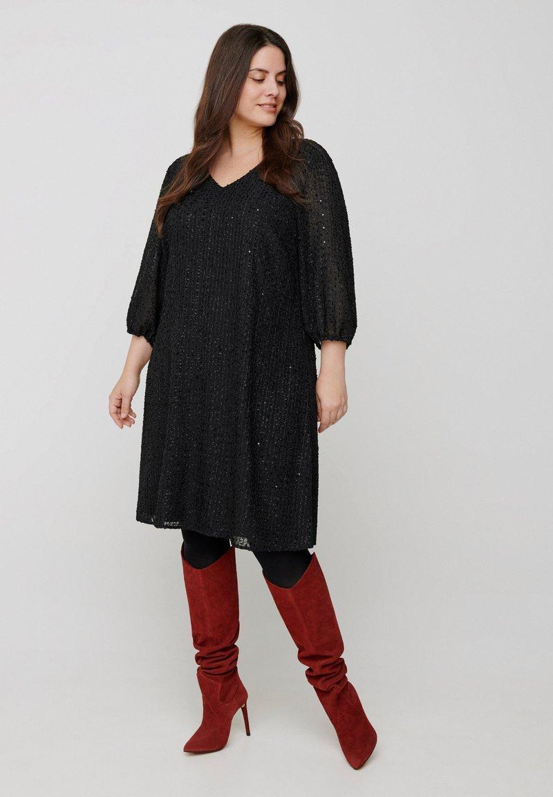 Zizzi - 3/4 LENGTH  - Day dress - black