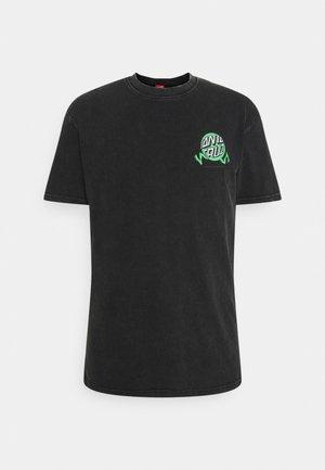 EXCLUSIVE TOXIC WASTE UNISEX  - T-shirt print - black acid wash