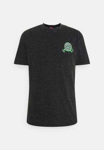 EXCLUSIVE TOXIC WASTE UNISEX  - Print T-shirt - black acid wash