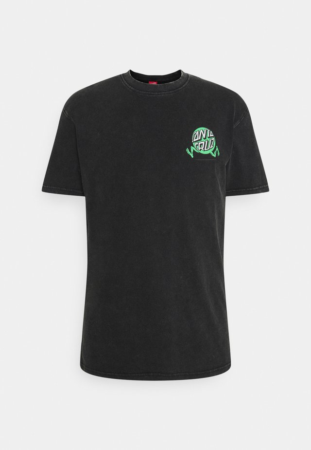 EXCLUSIVE TOXIC WASTE UNISEX  - T-shirts med print - black acid wash