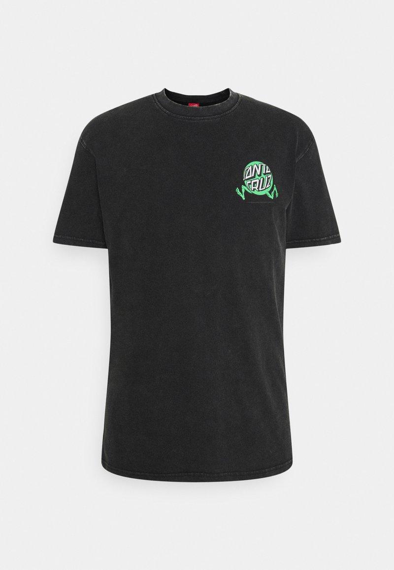 Santa Cruz - EXCLUSIVE TOXIC WASTE UNISEX  - T-shirt imprimé - black acid wash