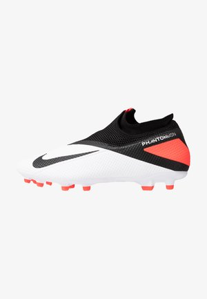 PHANTOM VISION 2 ACADEMY DF FG/MG - Moulded stud football boots - white/black/laser crimson
