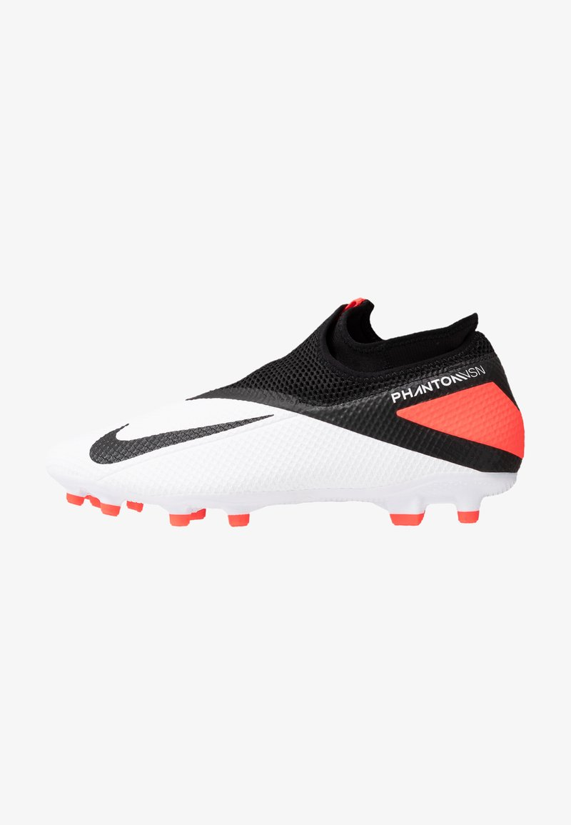 Nike Performance - PHANTOM VISION 2 ACADEMY DF FG/MG - Moulded stud football boots - white/black/laser crimson
