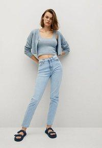 Mango - NEWMOM - Slim fit jeans - lichtblauw - 1