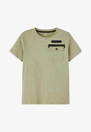 Print T-shirt - mottled light green