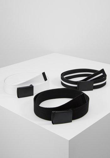 BELT 3 PACK - Skärp - black/white