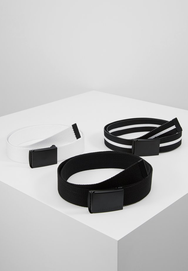 BELT 3 PACK - Belte - black/white