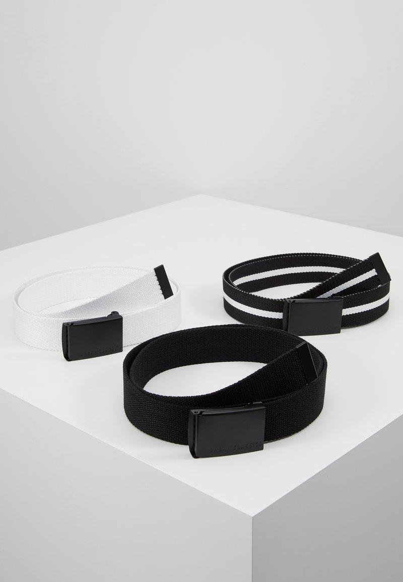 Urban Classics - BELT 3 PACK - Belt - black/white