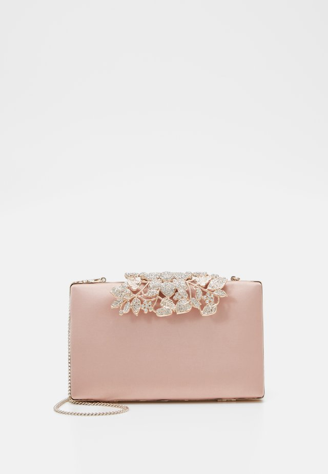 Clutch - true blush nude/gold-coloured