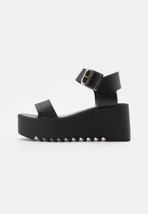 LAKE - Platform sandals - black