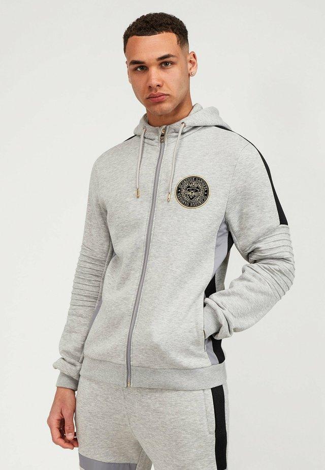 Felpa aperta - grey/black