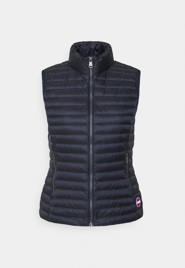 LADIES - Waistcoat - navy blue-light stee