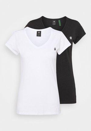EYBEN SLIM 2 PACK - T-shirts - black/white