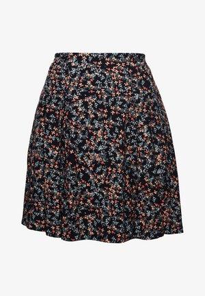 MANDY - A-line skirt - black ditsy