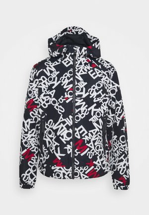 SCATTER PRINT LOGO HOODY - Summer jacket - midnight