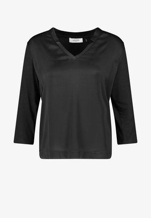 3/4 ARM SHIRT - Long sleeved top - schwarz