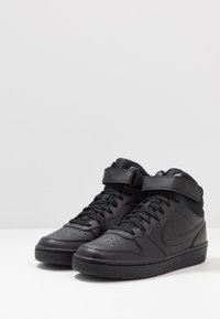 Nike Sportswear - COURT BOROUGH MID 2 UNISEX - Sneakersy wysokie - black - 3