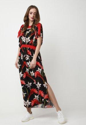 TSURUMI - Maxi dress - schwarz, rot