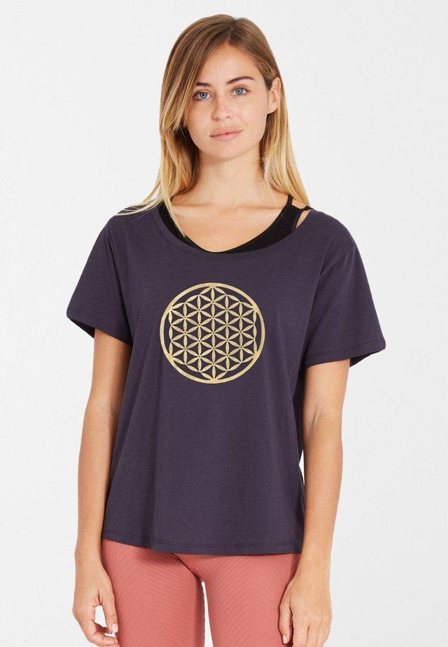 BIOMESSAGE - T-shirt print - gold