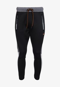 Superdry - MIT FARBBLOCK-DESIGN - Tracksuit bottoms - black - 5