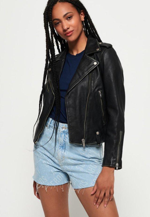 GIACCA  - Leather jacket - black