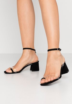 ZENON - T-bar sandals - clear/black