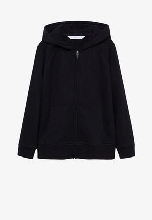 Hoodie met rits - zwart