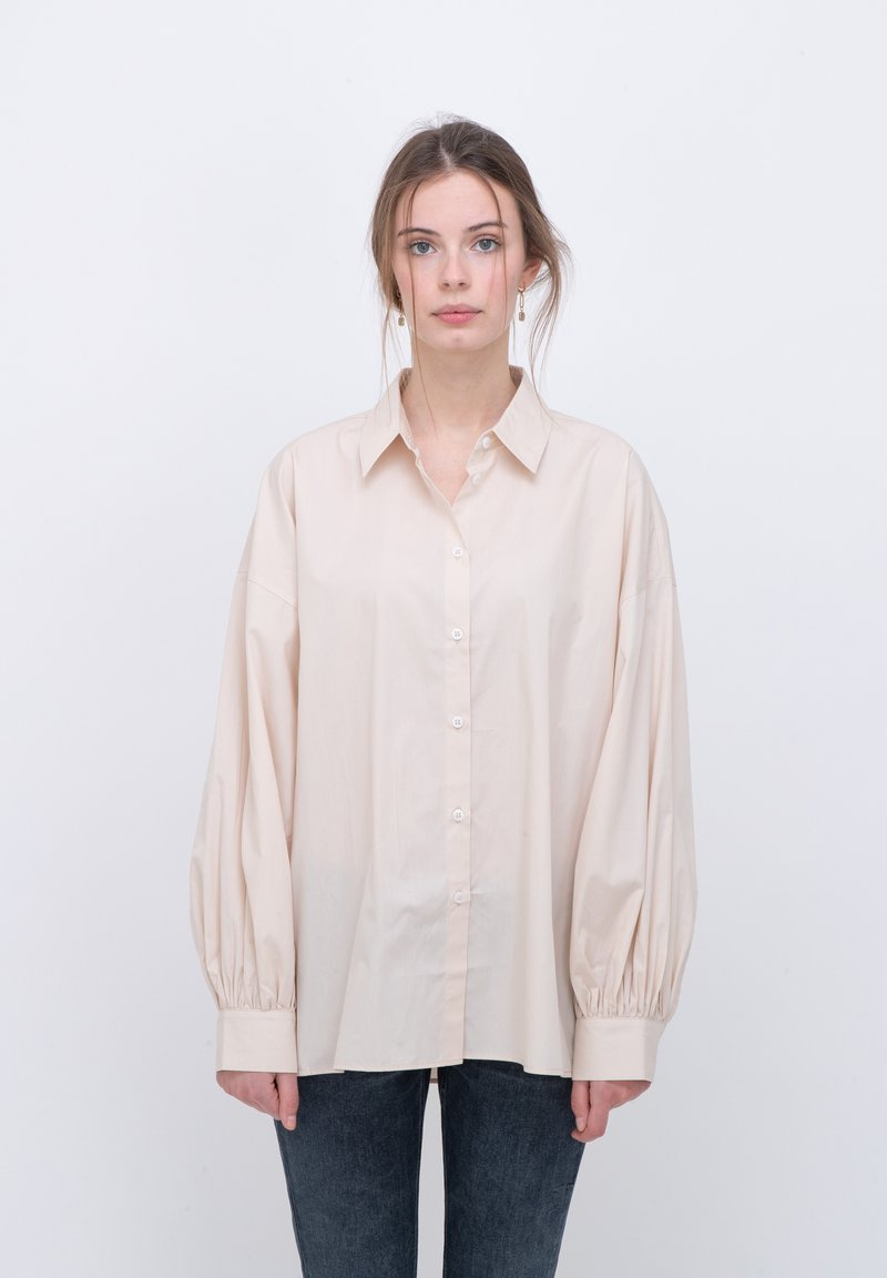 someday. - Button-down blouse - beige