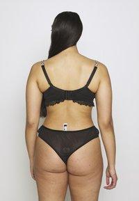 City Chic - MEGHAN BRA - Underwired bra - black/light brown - 2