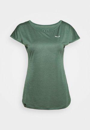 PUEZ DRY TEE - T-shirts - duck green melange