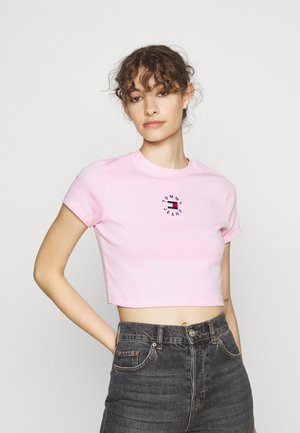 BABY CROP TINY TEE - Jednoduché triko - romantic pink