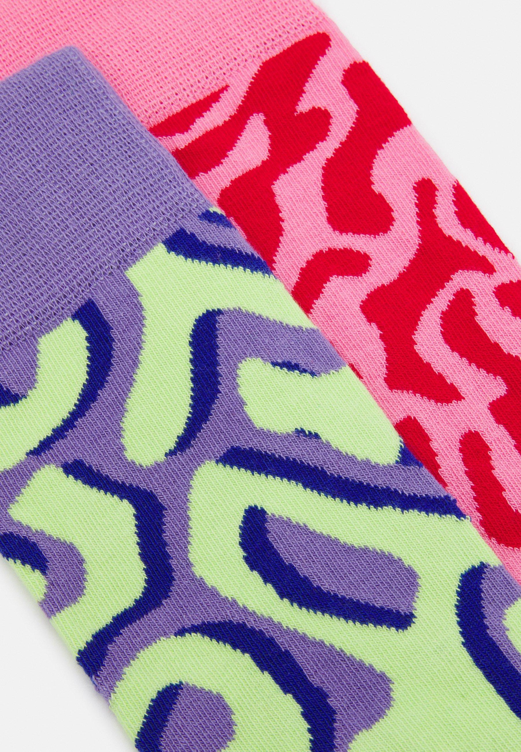 Women ABSTRACT 2 PACK UNISEX - Socks