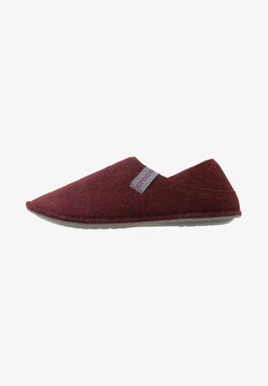 Slippers - burgundy/charcoal
