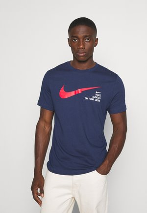 T-shirt med print - midnight navy