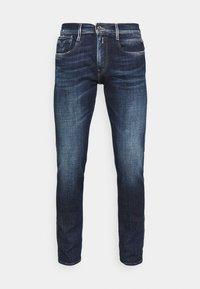ANBASS AGED - Slim fit -farkut - dark blue denim