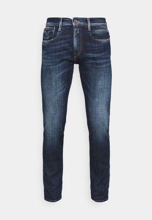 ANBASS AGED - Jeans slim fit - dark blue denim