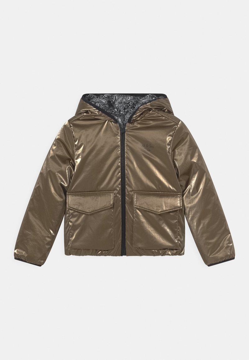 IKKS - REVERSIBLE WINTER - Winter jacket - navy foncé/or